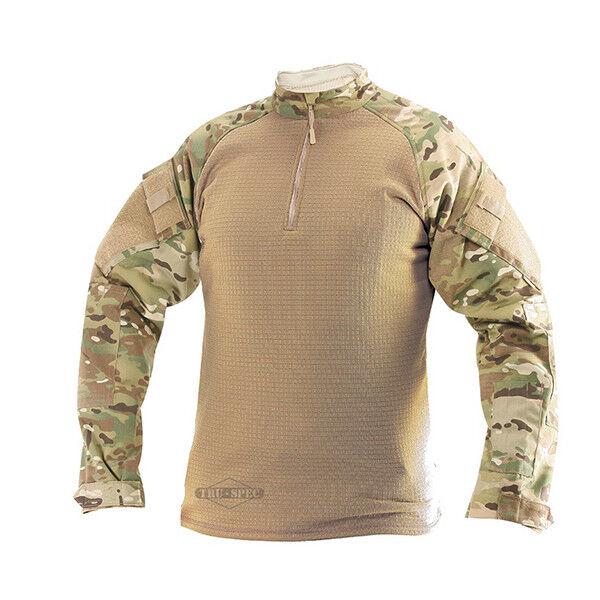 Tru-Spec Multicam Coyote 1 4 Cremallera Camisa De Combate De Invierno