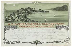Am Schermützel-See in Buckow 1899, Märkische Schweiz - LOS, Deutschland - Am Schermützel-See in Buckow 1899, Märkische Schweiz - LOS, Deutschland