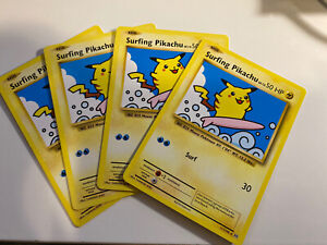 4x-Pokemon-TCG-Evolutions-Surfing-Pikachu-Rare-NM-111-108