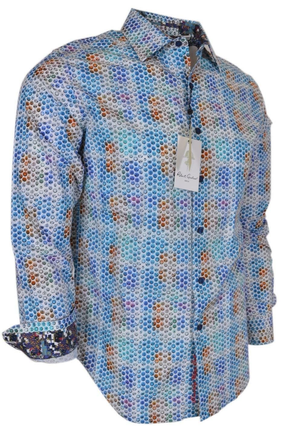 NEW Robert Graham Men's  NUTS & BOLTS Cotton Button Down Sports Dress Shirt