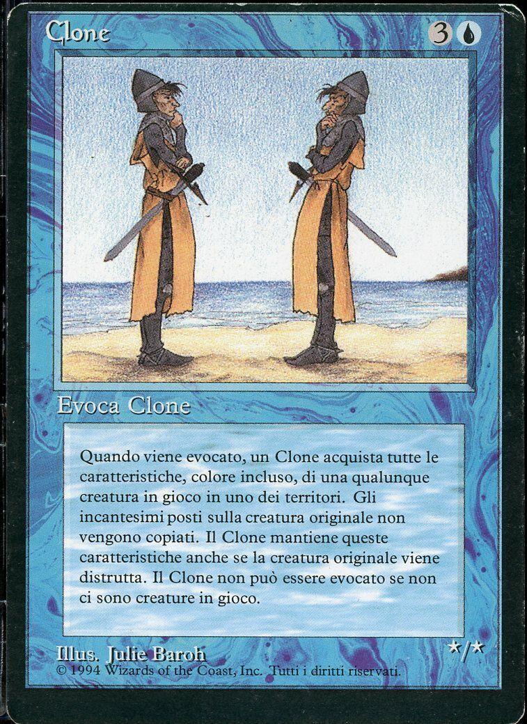 Clone MISCOT ITALIAN FBB 1994 magi the samling MTG Prima Edizione ITALIana
