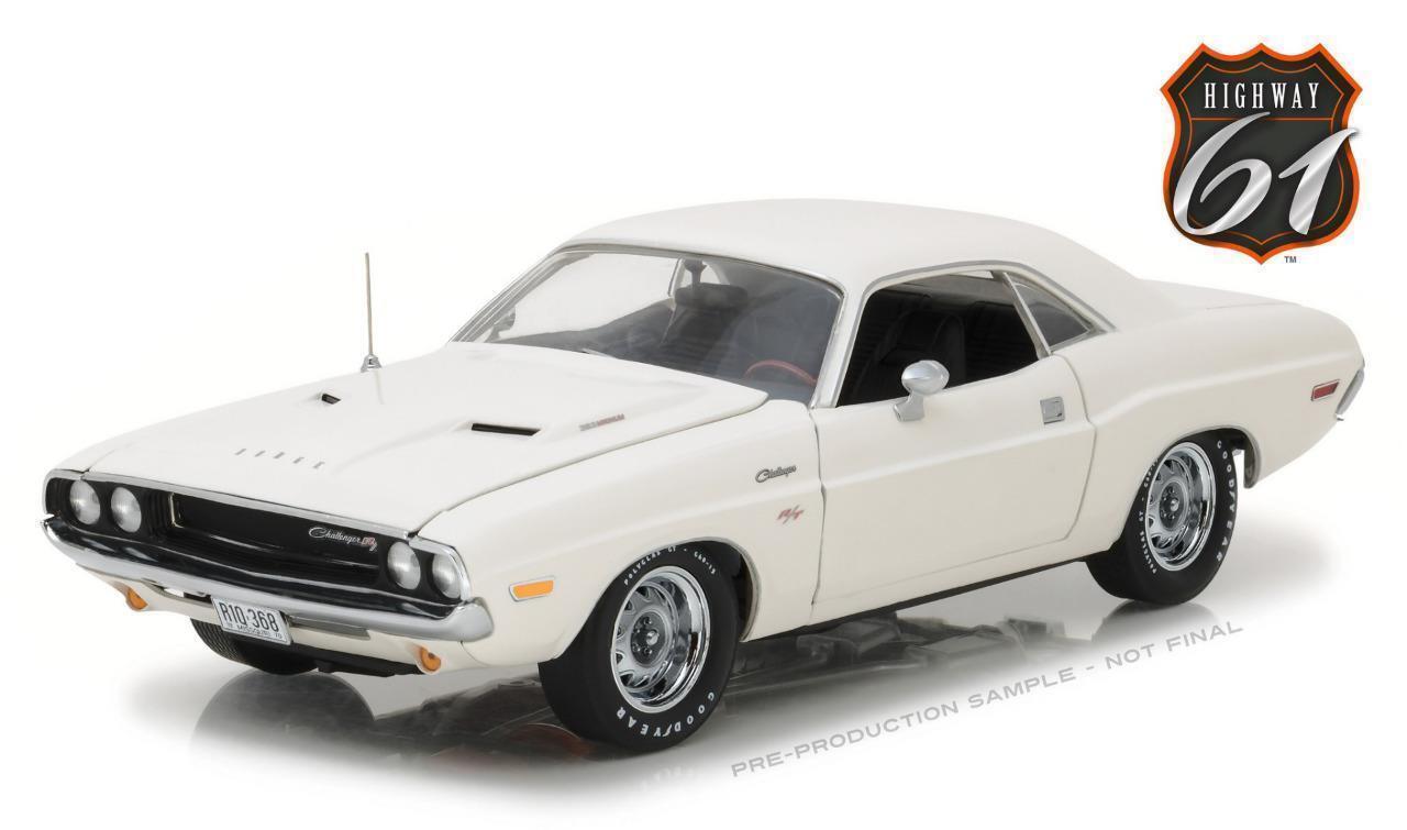 1:18 Highway 61 1970 Dodge Challenger R/T Bianco  Vanishing Point