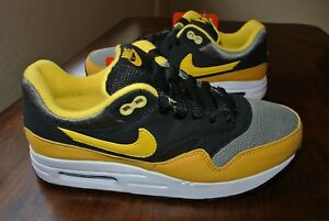 lowest price 99a3d b3868 Image is loading NIKE-AIR-MAX-1-GS-YOUTH-BLACK-YELLOW-
