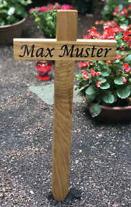Incl Beschriftung Nach Wunsch Ca Grabkreuz Holzkreuz 57 cm Straßenkreuz
