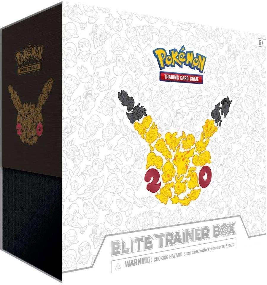 Pokémon - 20. jahrestag elite - trainer - box - fabrik versiegelt - vergriffen