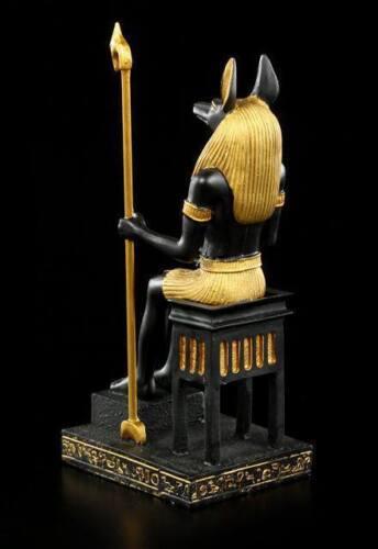 ägyptischer Gott Anubis auf Thron Ägypten Gottheit Dekostatue