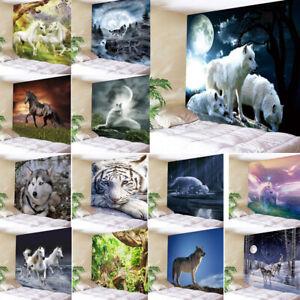 Arazzo-Da-Muro-Animali-Fondo-Stanza-Attaccatura-Parete-Attaccatura-Decorazione