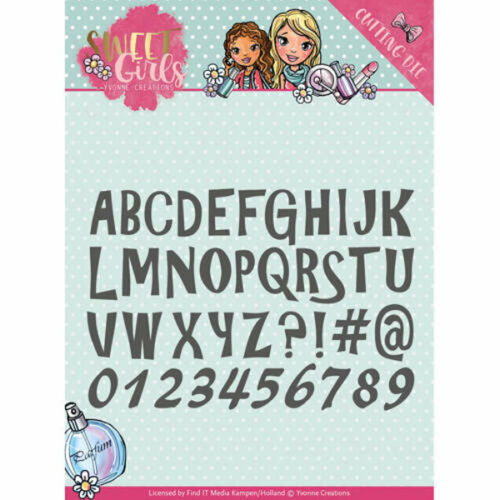 Lovely Alphabet Sweet Girls Collection von Yvonne Creations YCD10121
