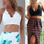 Choice-2-Colours-Black-or-Ivory-Crochet-Summer-Beach-Crop-Cropped-Top-Size-12-14 thumbnail 1