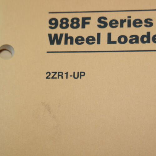CATERPILLAR 988F SERIES 2 II Front Wheel Loader Owner Operation Manual operator