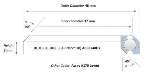 Headset BearingsMTB Road Bicycle Cane Creek FSA HopeBlueseal Bike Bearing