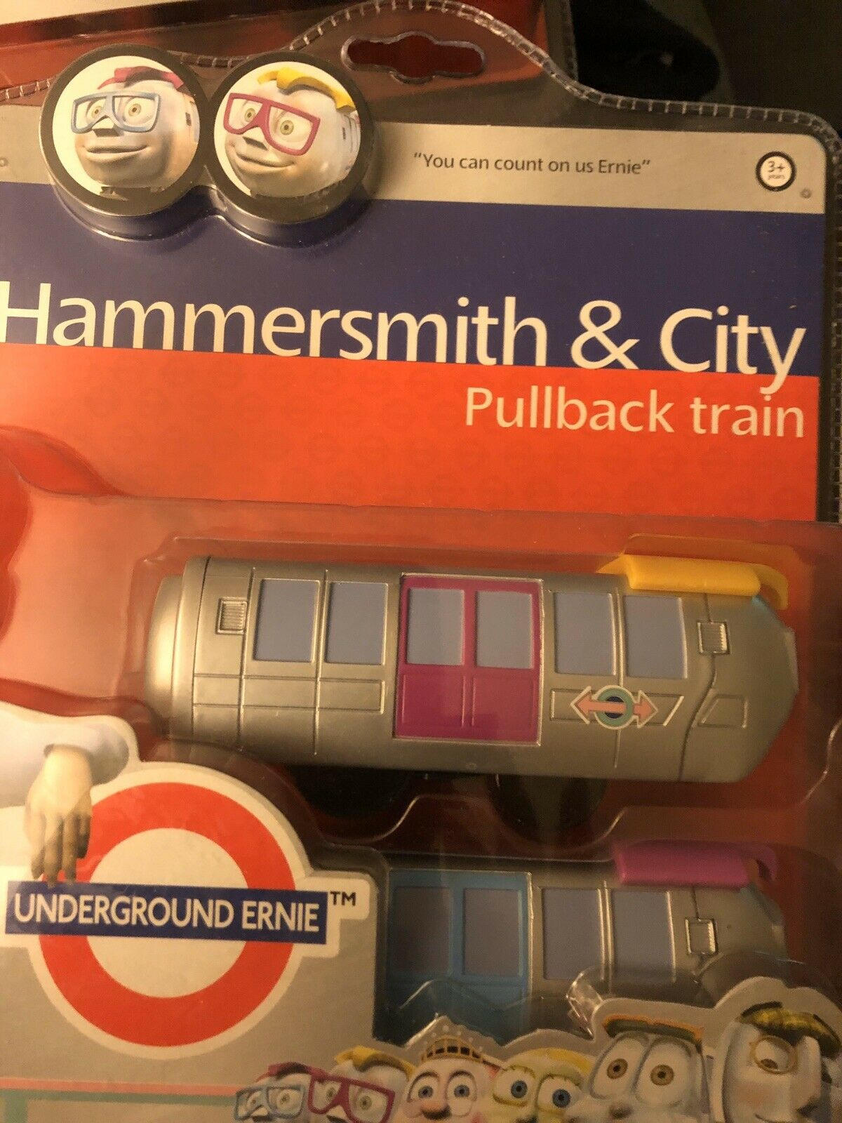 3 Underground Ernie Battery Operated Trains New Free Postage