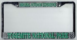 Yosemite National Park Vintage California Super Rare Metal License Plate Frame Ebay