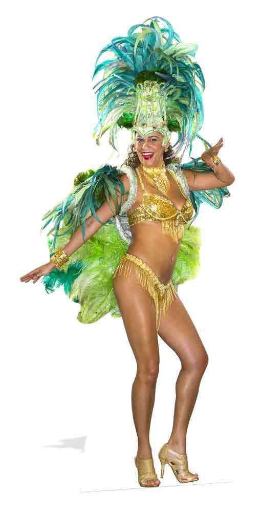 MARDI GRAS Karneval Festival Mädchen lebensechte Größe Pappfigur Aufstehen    Export    Stilvoll und lustig