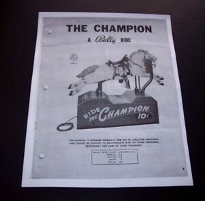 Ride-The-Champion-Bally-Horse-Kiddie-Ride-Installation-And-Repair-Service-Manual