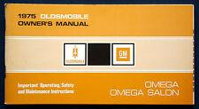 Owner's Manual Betriebsanleitung 1975 Oldsmobile Omega + Omega Salon   (USA)