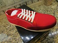 Steve Madden Toledo Red Canvas Sneaker Shoes Mens 11 Free Ship