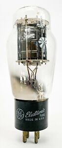 GE-Sylvania-2A3-Dual-Black-Plate-D-Getter-Triode-Matched-Vacuum-Tubes