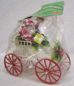 Vtg-Christmas-Centerpiece-Original-Package-Santa-in-Big-Wheel-Jalopy-Hong-Kong
