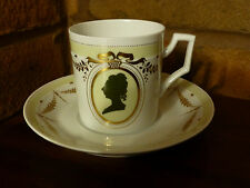 Furstenberg Porcelain Charlotte Philippine Silhouette Demitasse Cup & Saucer