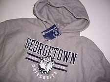 NWT Georgetown University Mens Champion Hoodie Sweatshirt NEW Gray Warm  L XL