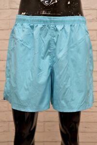 Costume-NIKE-Uomo-Taglia-XL-Mare-Piscina-Pantaloncino-Shorts-Rete-Kostum-Celeste
