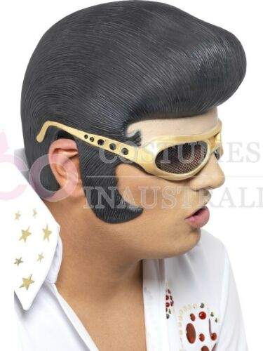 Mens ELVIS Headpiece Rock n Roll Rocker 50s 1950s Costume Accessories Mask