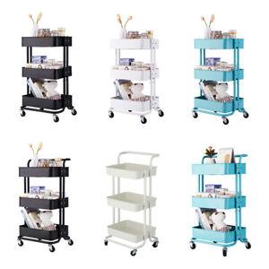 3-Tier-Metal-Rolling-Utility-Cart-Kitchen-Mobile-Storage-Organizer-Trolley-Cart