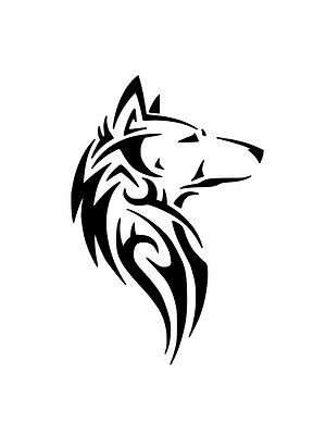 Re-Useable Mylar Native Wolf Temporary Tattoo Airbrush Stencil