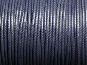 5-metres-Cordon-coton-cire-enduit-Rond-2mm-Gris-Bleu-Anthracite-455855008834