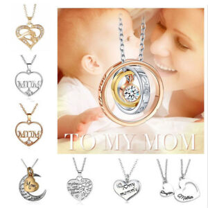Mum-Gold-Crystal-Necklace-amp-Pendant-NEW-Birthday-Christmas-Mothers-Day-Gift
