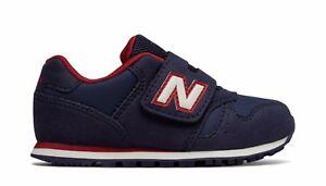 Scarpa-da-bambino-blu-navy-rosso-New-Balance-kv373ndy-junior-sneakers-velcro