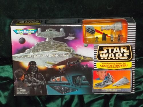 Star wars MICRO MACHINES Transforming Star Destroyer//Space forteresse Playset UB