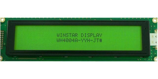 Winstar WH2002A-TMI-JT 20x2 LCD Display Blue Negative Mode White LED Backlight