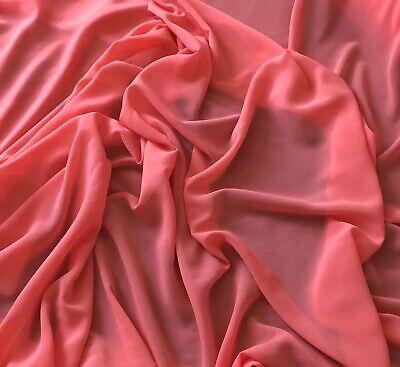"1 X Meter Navy Blue Moss Crepe Chiffon Fabric  60 "" Wide Semi Transparent"