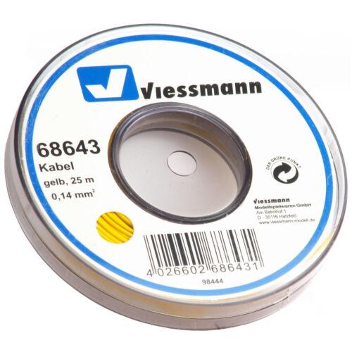 Viessmann 68643 Kabel 25 m + NEU /& OVP 0,14 mm² gelb