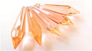 5 Light Peach 80mm Icicles Chandelier Crystals Pendant Suncatcher