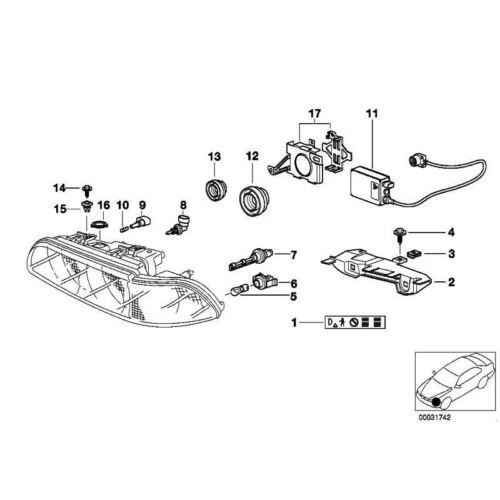 10x Original BMW 63126975083 Schraube 1er 3er 5er 7er X5