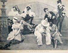 MYRBACH-REINFELD GRAVURE N&B BAL OPERA 4 HEURES du MATIN Paris Illustré 1885