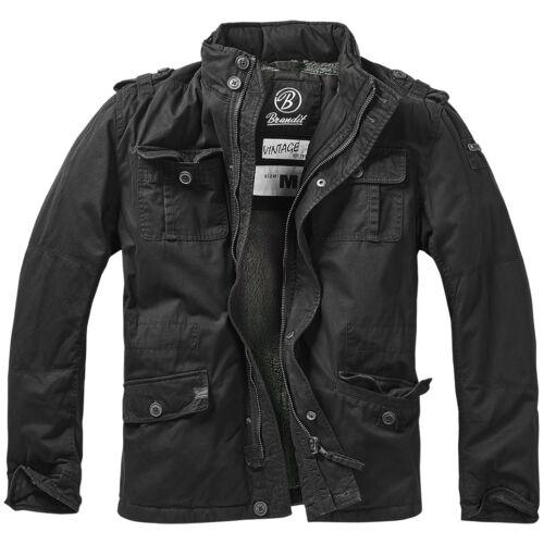 Brandit Britannia Mens Security Field Jacket Warm Winter Coat Police Parka Black