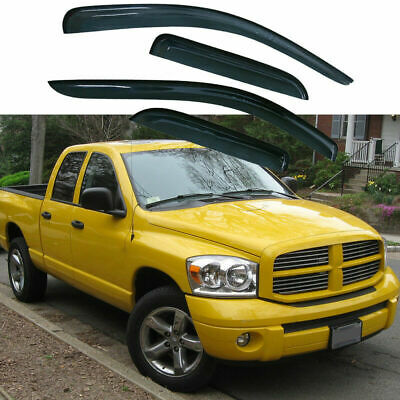 Visors Wind Deflector 2pcs Rain Guard 05 06 07 08 09 10 11 Dodge Dakota Club Cab