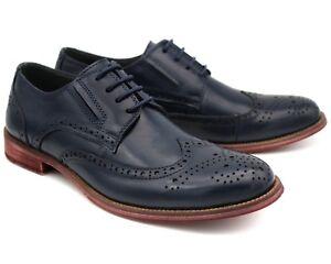 42 Brogue De Hommes Oscar2 Cuir Bleu Travail Eu Uk Chaussures Casual De 8 Marine Véritable En Bureau qxwzRnSaxO