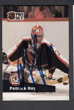 Patrick Roy Autographed 1991-92 Pro Set Hockey All Star Card #304 JSA