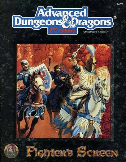 FIGHTER'S SCREEN EXC  9457 Dungeons Dragons Class Accessory AD&D D&D TSR Players