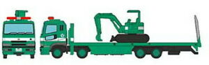 Tomytec-Truck-Collection-Plattform-Truck-Excavator-Green-N-Gauge-Model-1-160