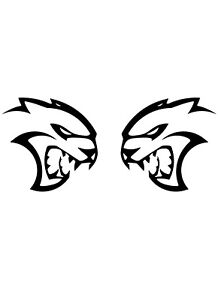 Dodge Charger Challenger Srt Hellcat Logo Vinyl Decal Sticker Ebay