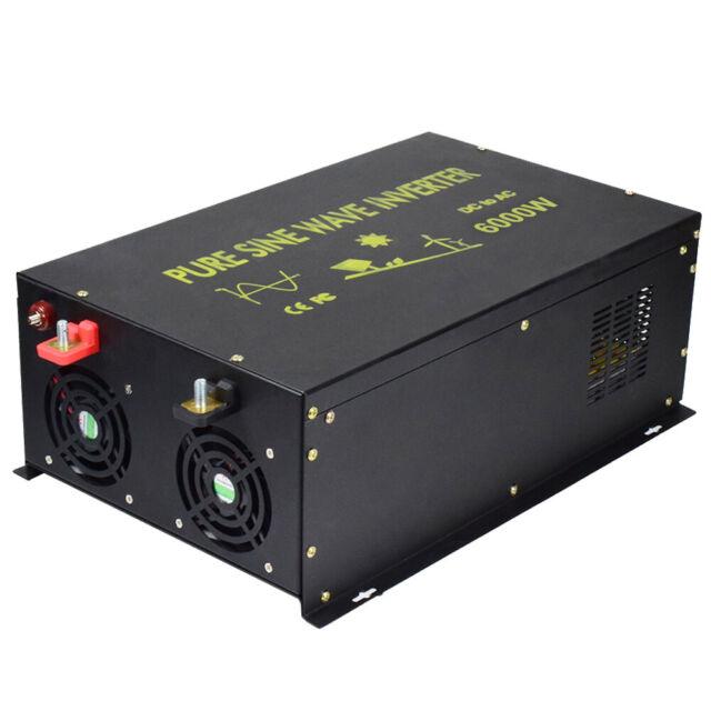EMC CE approved 12V/24V to 240V 50HZ 6000W Off Grid Pure Sine Wave Inverter