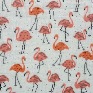 Shannon Fabrics Embrace Double Gauze - Coral Flamingos, by the yard