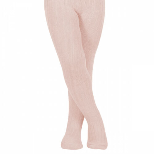 Spanish Baby Rosa Ysabel Mora Boys//Girls Ribbed Tights in Pink 0-3 and 3-6 month