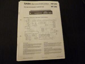 100% QualitäT Original Service Manual Saba Mt 280